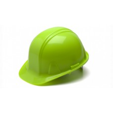 Pyramex SL Series Cap Style Hard Hat Standard Shell 4 Pt Ratchet Suspension, Hi Vis Lime, HP14131
