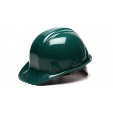 Pyramex SL Series Cap Style Hard Hat Standard Shell 4 Pt Ratchet Suspension, Green, HP14135