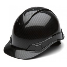 Pyramex Ridgeline Gloss Graphite Pattern Hard Hat Cap Style 4 Pt Ratchet Suspension HP44117S