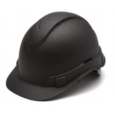 Pyramex Ridgeline Vented Graphite Pattern Hard Hat - Cap Style - 4 Pt Ratchet Suspension - HP44117V