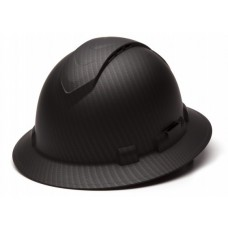 Pyramex Ridgeline HP54117V Black Graphite Pattern Vented Hard Hat - Full Brim - 4Pt Ratchet Suspension