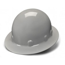 Pyramex SL Series HPS24112 Sleek Shell Hard Hats, Full Brim Style, 4 Pt Ratchet Suspension, Gray