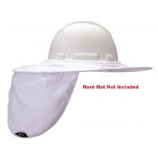 Pyramex HPSHADEC10 White Collapsible Hard Hat Brim with Neck Shade