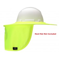Pyramex HPSHADEC30 Hi-vis Yellow Collapsible Hard Hat Brim with Neck Shade