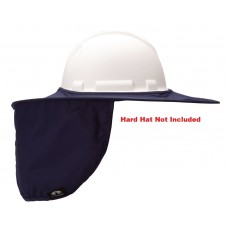 Pyramex HPSHADEC60 Blue Collapsible Hard Hat Brim with Neck Shade