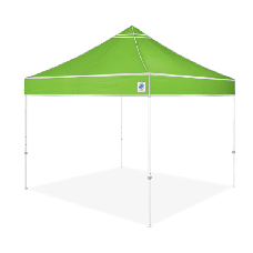 10' x 10' E-Z Up Hi-Viz Shelter with Roller Bag and Spikes, Bright Green
