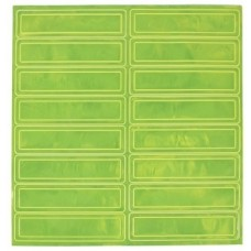 Pyramex HPRSLM Hard Hat Reflective Stripe - 1 Sheet - Lime