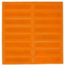 Pyramex HPRSOR Hard Hat Reflective Stripe - 1 Sheet - Orange
