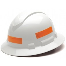 Pyramex Hard Hat Reflective Stripe, 16/Sheet, Orange