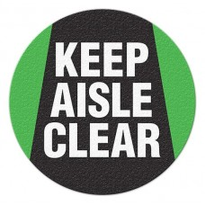 KEEP ISLE CLEAR Safety Floor Graphic, Anti-Slip