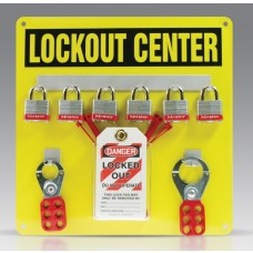 Lockout Center Aluminum Hanger Board Kit - 6-Padlock Board