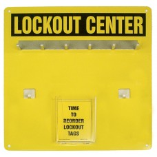 Lockout Center Aluminum Hanger Board - 6-Padlock Board Only