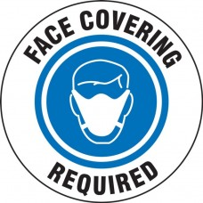 Accuform Entrance Door Cling - Face Covering Required - 5 Pack