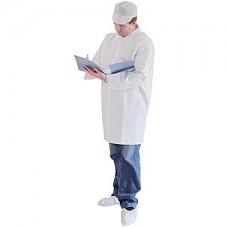 LAB COAT - KEYGUARD - NO POCKETS - OPEN WRISTS - SNAP FRONT - SINGLE COLLAR, 30 / CASE