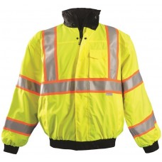 OccuNomix LUX-TJBJ2 Hi Vis Yellow Bomber Jacket - Type R - Class 3 - (CLOSEOUT)