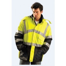 OccuNomix LUX-TJCW Hi Vis Yellow Premium Insulated Cold Weather Parka - Type R - Class 3