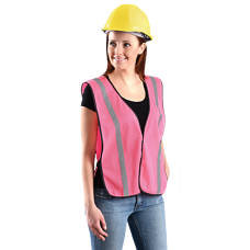OccuNomix Pink Mesh Safety Vest - Ladies - Non-ANSI - XL - (CLOSEOUT - LIMITED STOCK AVAILABLE)