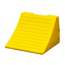 "Checkers MC3009 Heavy Duty Wheel Chock - 15"" x 15.1"" x 11"" - Yellow - Each"