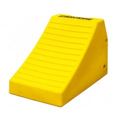 "Checkers MC3011 Heavy-Duty Wheel Chock - 24.6"" x 14.5"" X 16"" - Yellow - Each"