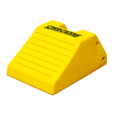 "Checkers MC3012 Heavy-Duty Wheel Chock - 21.9"" x 14.9"" x 10.6"" - Yellow - Each"