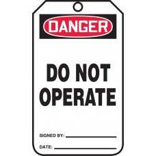 OSHA Danger Safety Tag: Do Not Operate - 25 Pack
