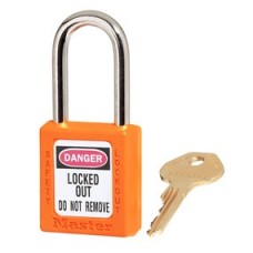 Master Lock 410 Lockout Padlock -  Keyed Different - Orange