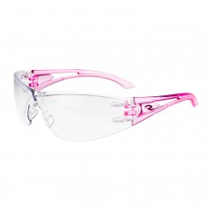 Radians Optima OP6710ID Safety Glasses Clear Lens Pink Temples