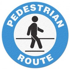 PEDESTRIAN ROUTE Safety Floor Graphic, Anti-Slip