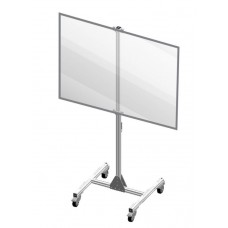 "Accuform PRD302 Shared Desk Divider Mobile Partition Shield Panel - 36"" x 48"""