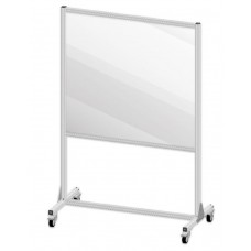 "Accuform PRD604 Large Mobile Partition Shield Panel - 47"" x 47"""