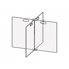 """Accu-Shield 4-Way Clear Table Barrier - Table Size 36"""""""
