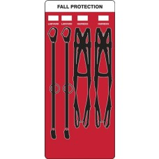 5S Fall Protection Lanyard Store-Board - Board Only