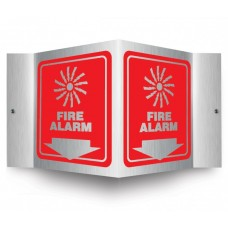 AccuForm PSM305 Brushed Aluminum 3D Projection Sign - Fire Alarm