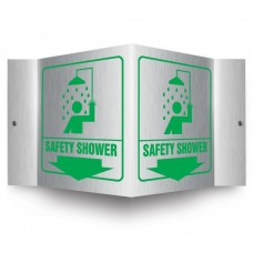 AccuForm PSM320 Brushed Aluminum 3D Projection Sign - Safety Shower