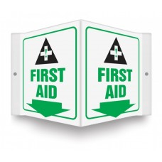 """AccuForm PSP605 Plastic 3D Projection Sign - First Aid - 6"""" x 5"""""""