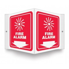 """AccuForm PSP620 Plastic 3D Projection Sign - Fire Alarm (Graphic And Down Arrow) - 6"""" x 5"""""""