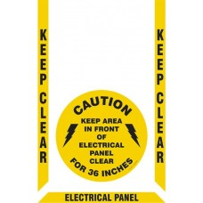Slip-Gard Floor Marking Kit - Keep Clear - Electrical Panel 36 Inches