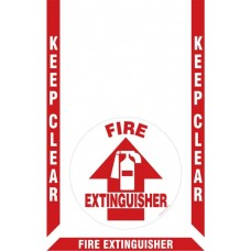 Slip-Gard Floor Marking Kit - Keep Clear - Fire Extinguisher