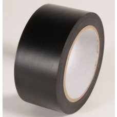 "Incom PST215 Safety Black Aisle Tape - 2"" x 108'"
