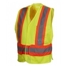 Pyramex RCA2710 Hi Vis Yellow Safety Vest - Breakaway - X Back - Type R - Class 2