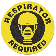 RESPIRATOR REQUIRED Safety Floor Graphic, Anti-Slip