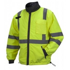 Pyramex RJR3410 Hi Vis Yellow 4-In-1 Reversible Windbreaker Safety Jacket - Class 3
