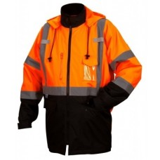 Pyramex RP3120 Hi Vis Orange Black Bottom Parka - Class 3