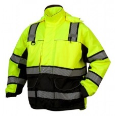 Pyramex RPB3610 Hi Vis Yellow Multi-Layer Parka w/ Removable Inner Jacket - Type R Class 3