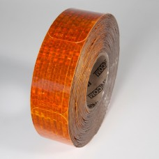 "2"" x 3-1/2"" Amber Reflex Reflective Stick-On Reflectors - 50 Per Roll"