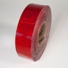 "2"" x 3-1/2"" Red Reflex Reflective Stick-On Reflectors - 50 Per Roll"