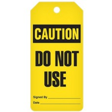 Incom Tags By-The-Roll: CAUTION Do Not Use - 100/Roll