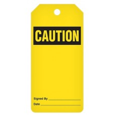 Incom Tags By-The-Roll: CAUTION ** Blank ** - 100/Roll