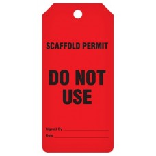 Incom Tags By-The-Roll: Scaffold Do Not Use - 100/Roll