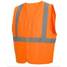 Pyramex RVHL2920 Economy Hi Vis Orange Safety Vest, Class 2, Reflective Tape